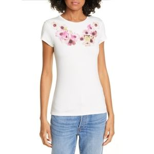 {Ted Baker} Ivory Neopolitan Fitted Tee